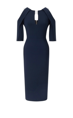 Keeling Cutout Crepe Dress by Roland Mouret in Suits