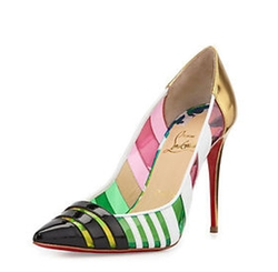 Bandy Pointy Toe Pumps by Christian Louboutin in Empire