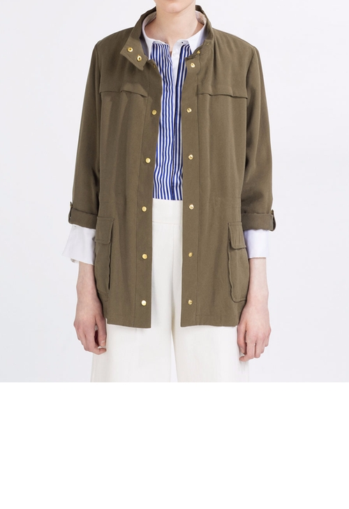 Safari Jacket with High Neck by Zara in The Bachelorette - Season 12 Episode 8