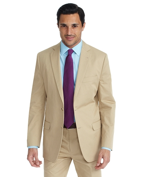Cotton Twill Fitzgerald Fit Suit by Brooks Brothers in The Transporter: Refueled