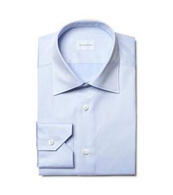 Light Blue French-Collar Shirt by Ermenegildo Zegna in Suits