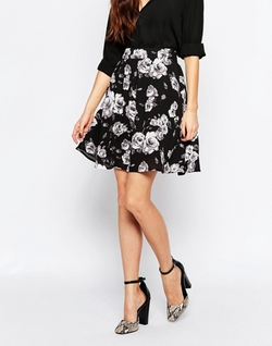 High Waisted Floral Skirt by Minimum in Unbreakable Kimmy Schmidt