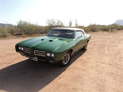 1969 GTO Convertible Car by Pontiac in Rock The Kasbah