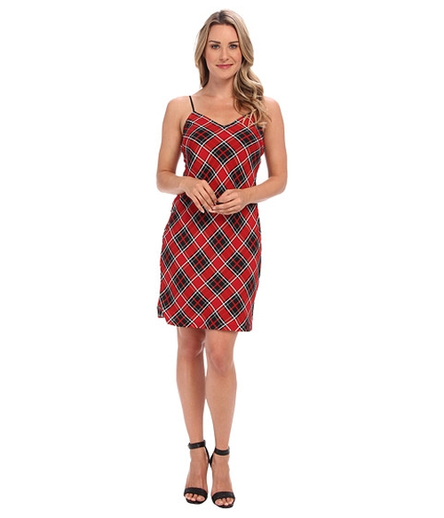 Frontier Plaid Slip Dress by Michael Kors in The Hundred-Foot Journey