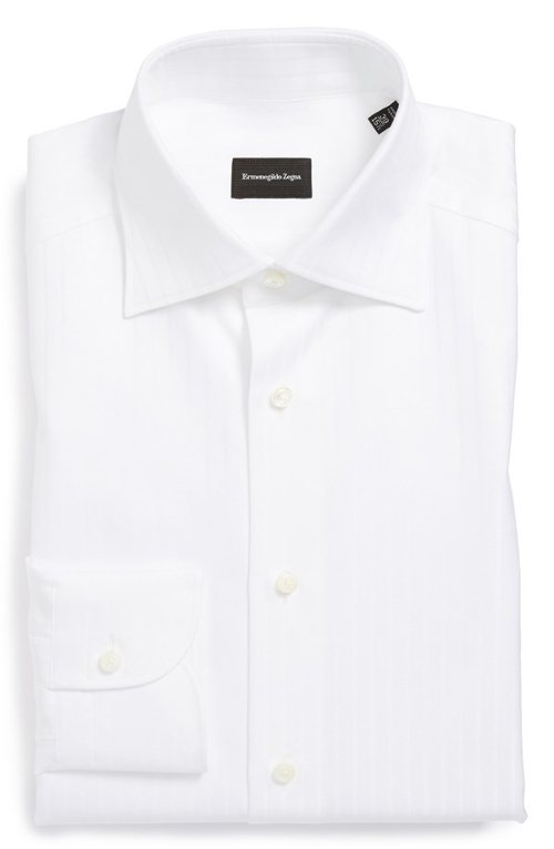 Regular Fit Solid Dress Shirt by Ermenegildo Zegna in The Loft