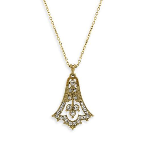 Gold-Tone Pave Crystal Bell Drop Necklace by Downton Abbey in Wish I Was Here