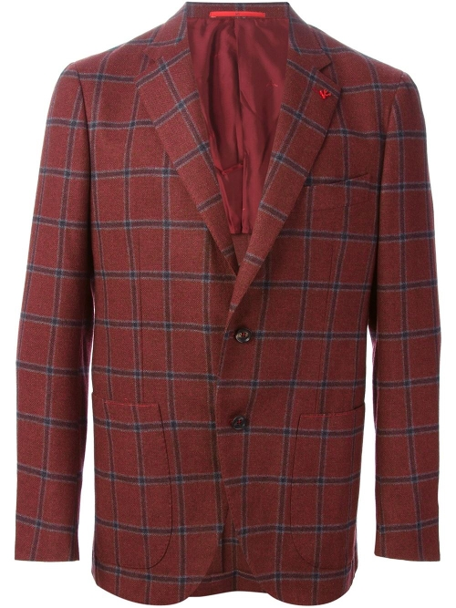 Checked Blazer by Isaia in Fight Club
