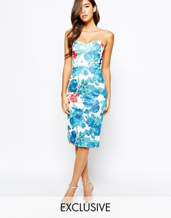 True Violet Midi Dress With Sweetheart Neck by Asos in Scream Queens