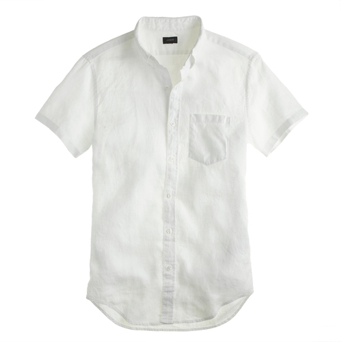 Short Sleeve Irish Linen Shirt by J.Crew in Ride Along 2
