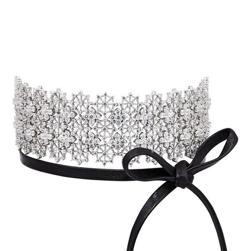 Chantilly Lace Single Wrap Choker by Fallon in Keeping Up With The Kardashians - Season 12 Episode 12