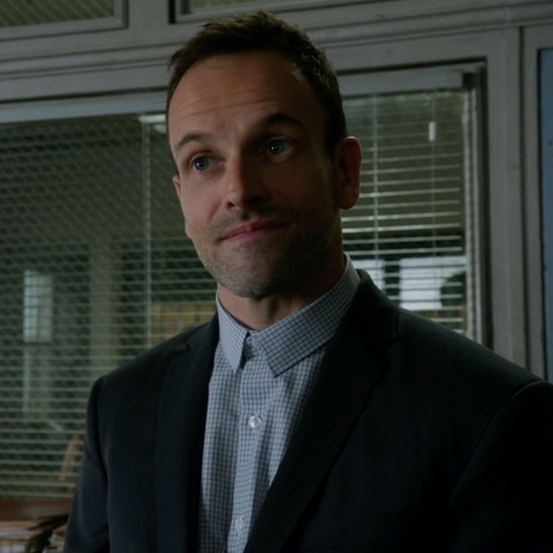 Custom Made Gingham Check Button Shirt by Cego in Elementary - Season 4 Episode 15