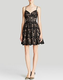Spaghetti Strap Lace Fit and Flare Dress by Aqua in If I Stay
