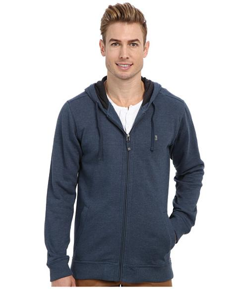 Sandpiper Zip Hoodie by Quiksilver Waterman in Chronicle