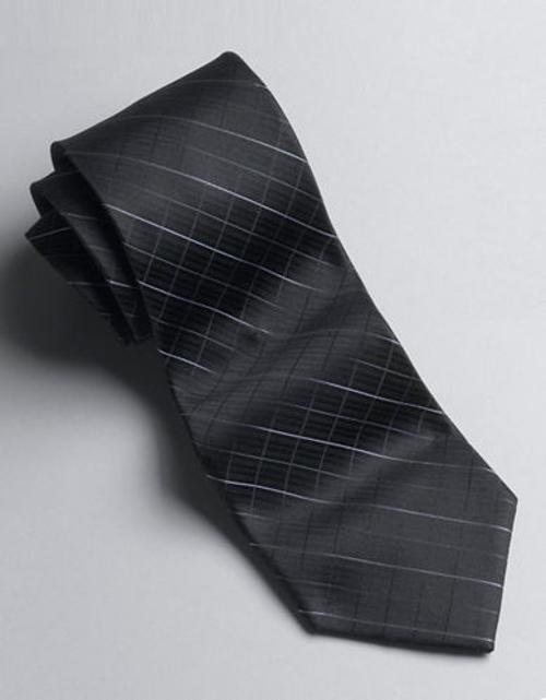 Classic Fit Diamond-Patterned Silk Tie Set by Calvin Klein in Yves Saint Laurent