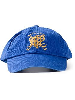 crest embroidered baseball cap by POLO RALPH LAUREN in Blended