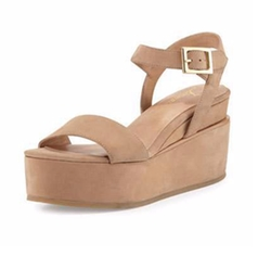 Angie Nubuck Wedge Sandals by Delman in Fuller House