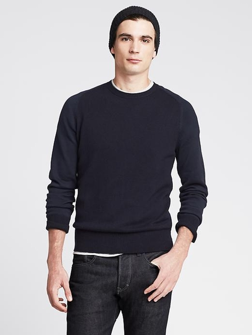 Crew Pullover Sweater by Colorblock in Trainwreck