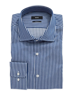 Striped Dress Shirt by Hugo Boss in The Walk