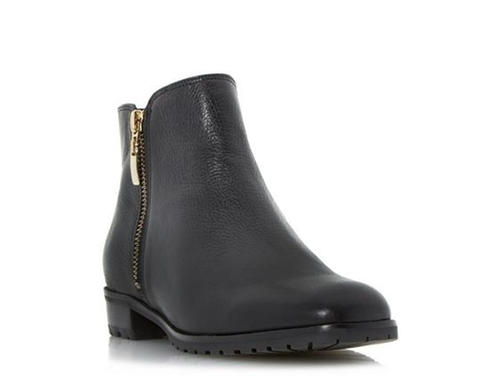 Cleated Sole Side Zip Ankle Boots by Dune London in Pretty Little Liars