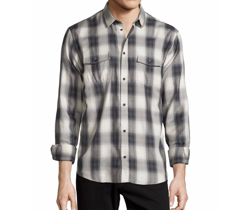 Albion Check-Plaid Long-Sleeve Sport Shirt by IRO in Silicon Valley - Season 3 Episode 10