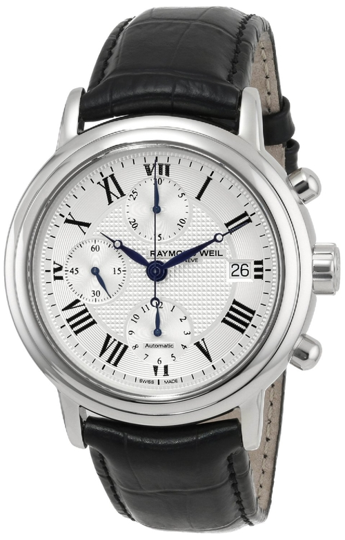 Leather Automatic Watch by Raymond Weil in American Horror Story
