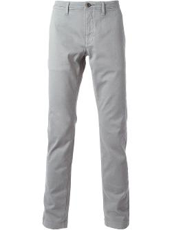 Slim Fit Chinos by Siviglia in Chronicle