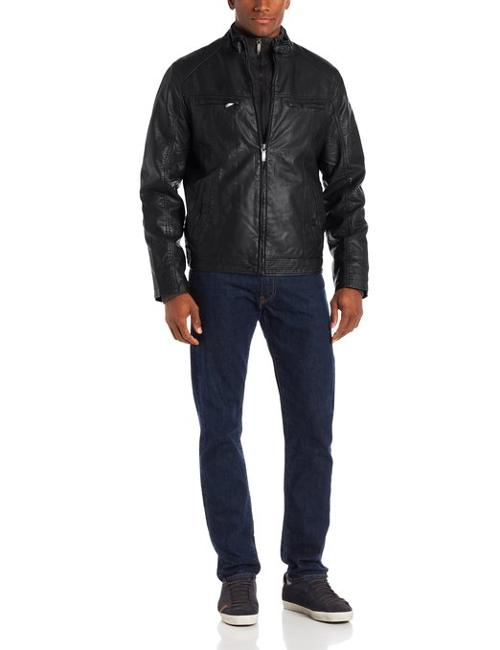 Faux Leather Jacket by Perry Ellis in If I Stay