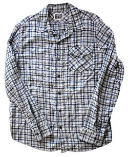 Long-sleeve Blue And Grey Plaid Shirt by Converse in Ted