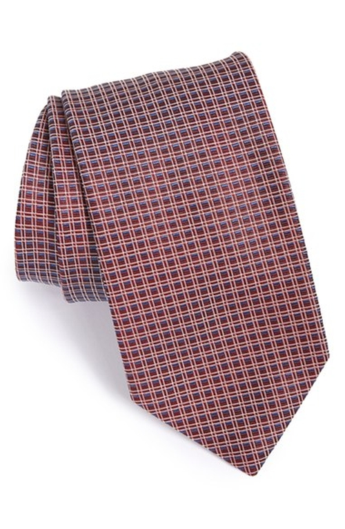 Check Silk Tie by Boss in The Good Wife