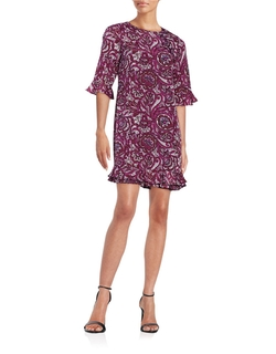Paisley Ruffle-Hem Dress by Cece in Chelsea