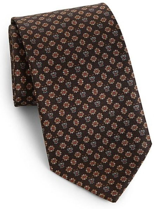 Silk Flower & Butterfly Print Tie by Salvatore Ferragamo in Ricki and the Flash