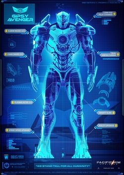 Gipsy Avenger Jaeger by Seth Engstrom (Concept Artist) in Pacific Rim: Uprising