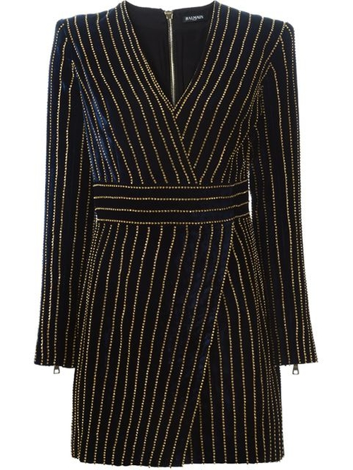 Velvet Dress by Balmain in Empire