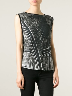 Contrast Print Tank Top by Helmut Lang in The Flash