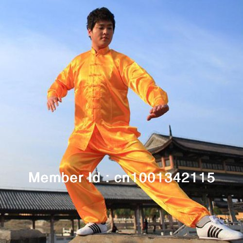 Men Martial Art Jacket Pants Set Tai Chi Uniform by Ali Express in Couple's Retreat