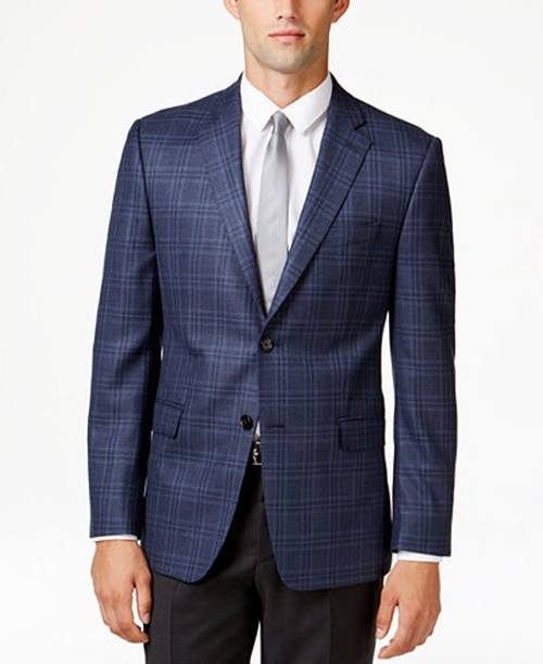 Men's Slim-Fit Plaid Sport Coat by Lauren Ralph Lauren  in Rosewood - Season 2 Episode 1