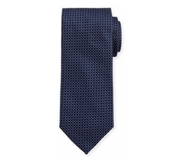 Woven Dotted Circles Neat Silk Tie by Eton in Suits