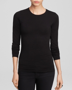 Long Sleeve Crew Neck Tee Shirt by Majestic in Insidious: Chapter 3