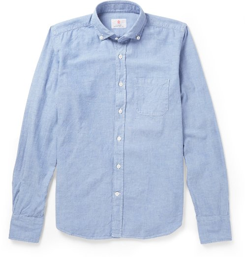 Trimmed Chambray Oxford Shirt by Incotex in While We're Young