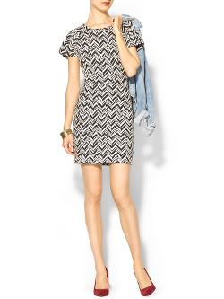 Chevron Knit Dress by COLLECTIVE CONCEPTS in Walk of Shame