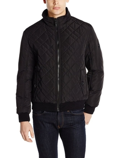 Quilted Bomber Jacket by Calvin Klein in Dope