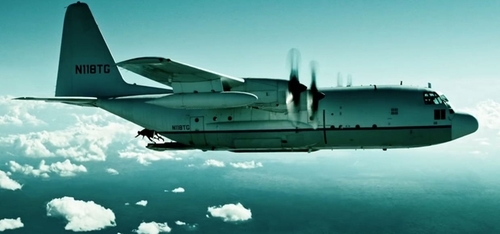 C-130 Hercules Turboprop Aircraft by Lockheed in Point Break