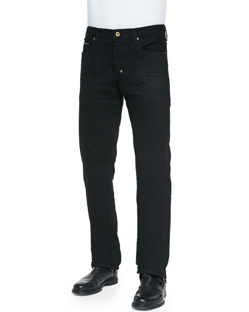 Barracuda Black Raw Jeans by PRPS in Run All Night