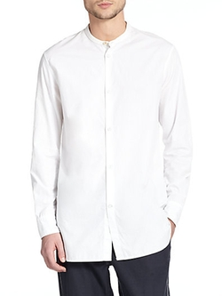Mulholland Band Collar Shirt by Rag & Bone in Masterminds