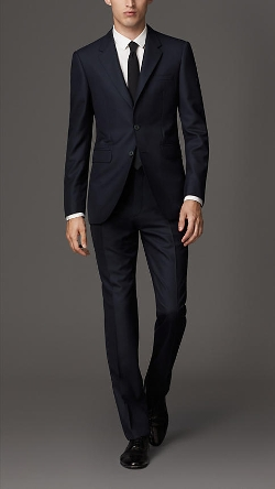 Modern Fit Wool Suit by Burberry in Self/Less