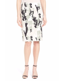 'Vepina' Print Pencil Skirt by Boss in Supergirl