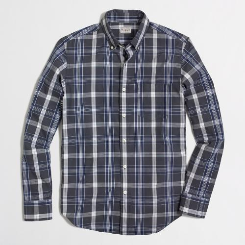 Factory Washed Shirt In Medium Plaid by J.Crew in Neighbors