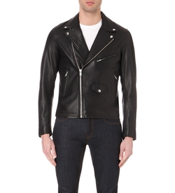 Thrash Leather Biker Jacket by Sandro in Shadowhunters