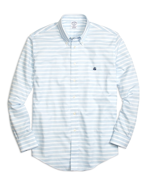 Horizontal Stripe Sport Shirt by Brooks Brothers in Dope