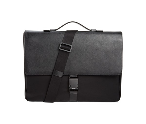 Nylon & Saffiano Leather Briefcase by Calvin Klein in McFarland, USA